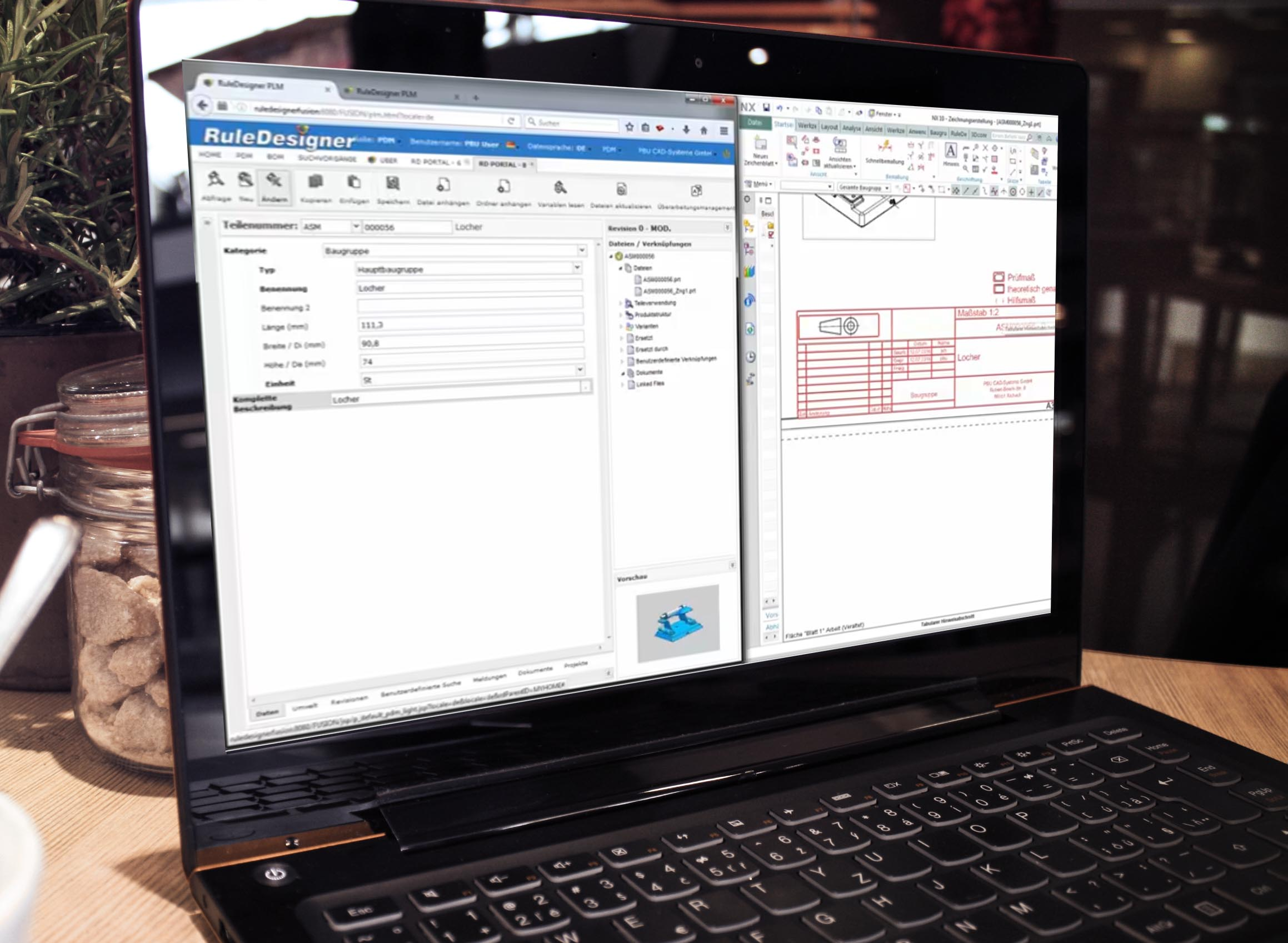 PDM integrato con Siemens NX