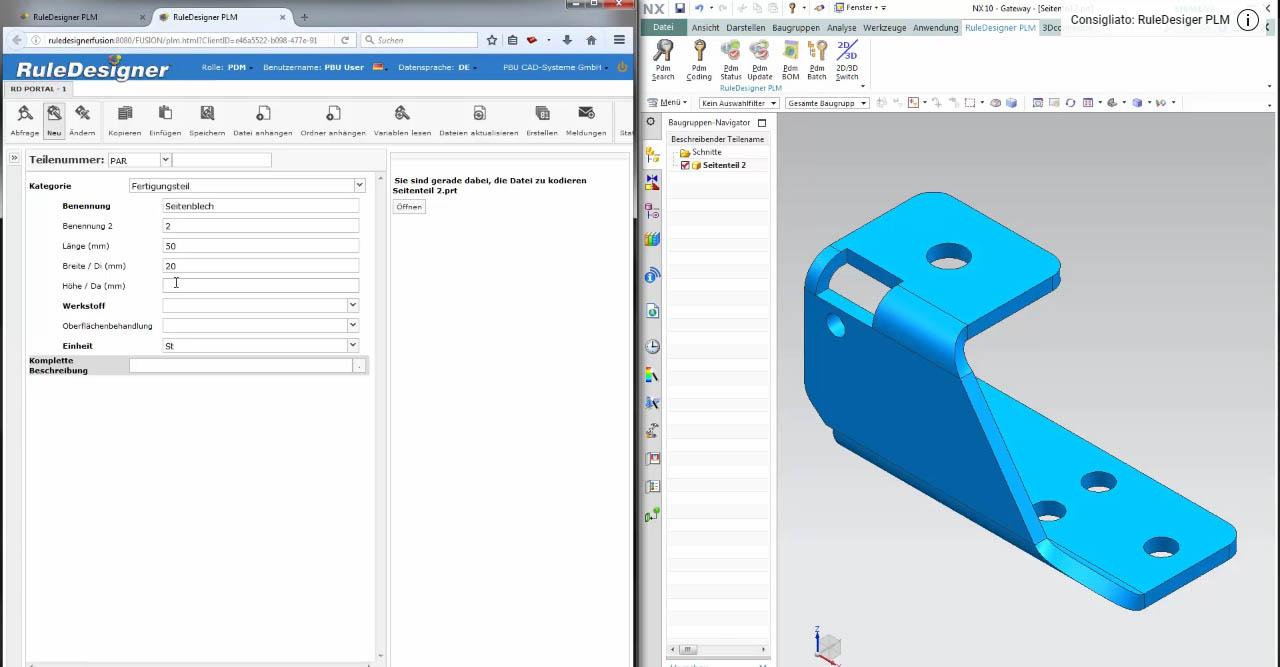 RuleDesigner PDM integrato con Nx