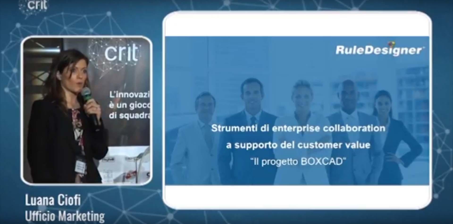 Intervento RuleDesigner Evento CRIT Research Bologna Business School