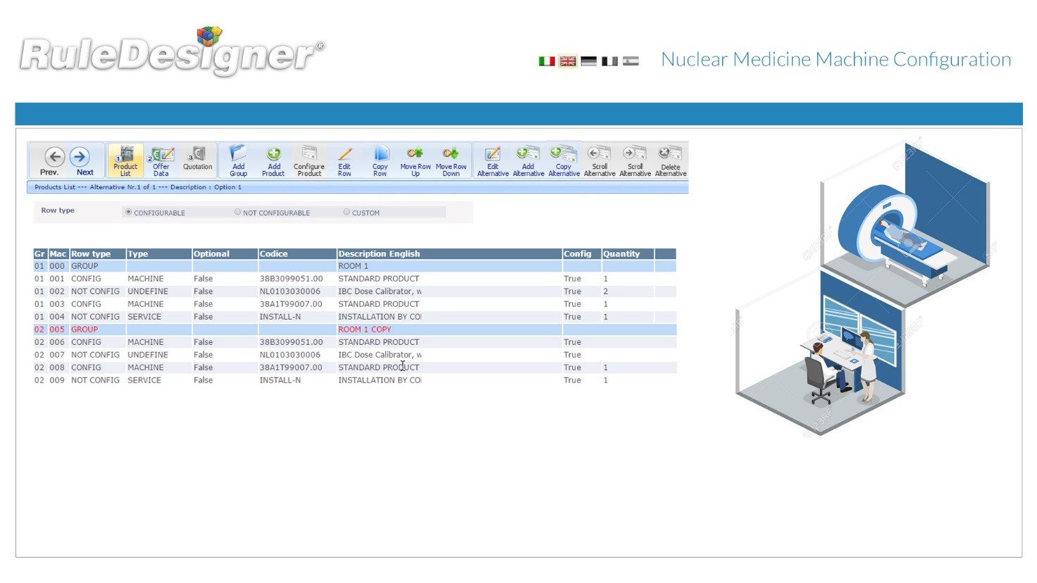 NuclearMedicineMachineConfiguration