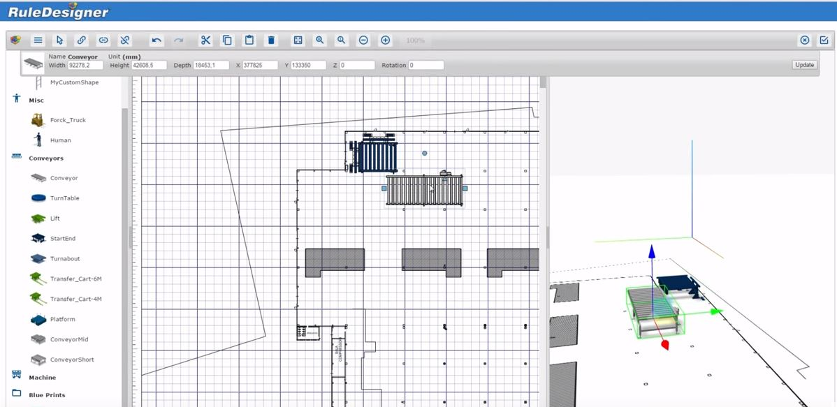 RuleDesigner Configurator | Industrial Layout graphical configuration