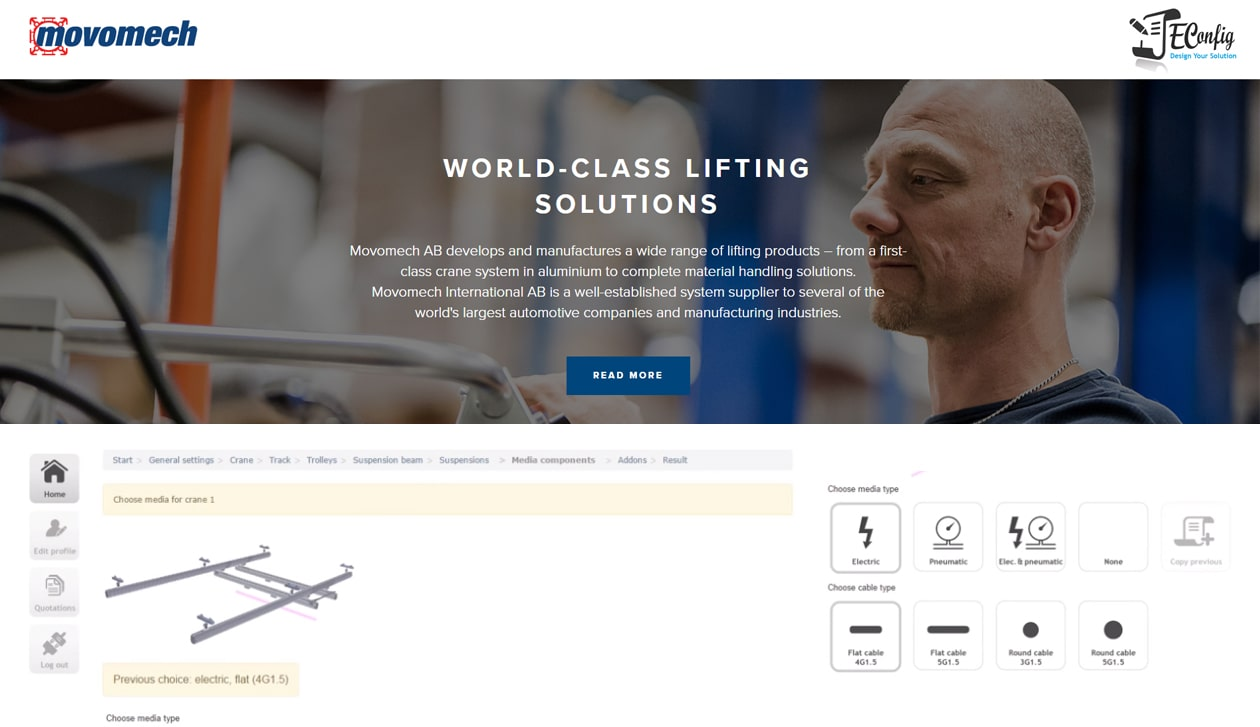 RuleDesigner Configurator | Product & Sales Configuration for Lifting Technology
